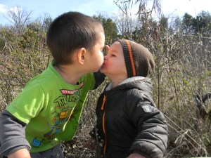 ... and brother kisses.